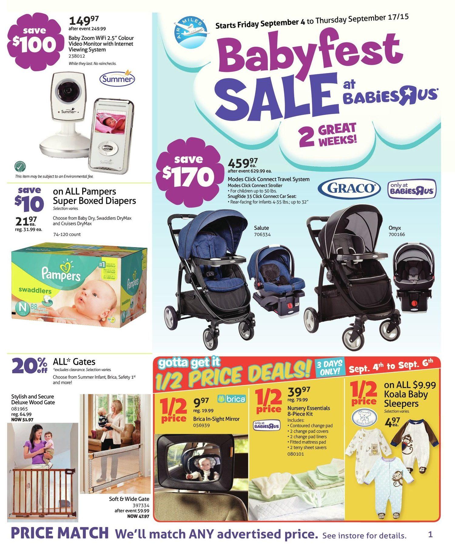 089a7393a Babies R Us Weekly Flyer - 2-Week Sale - Babyfest Sale - Sep 4 – 17 -  RedFlagDeals.com