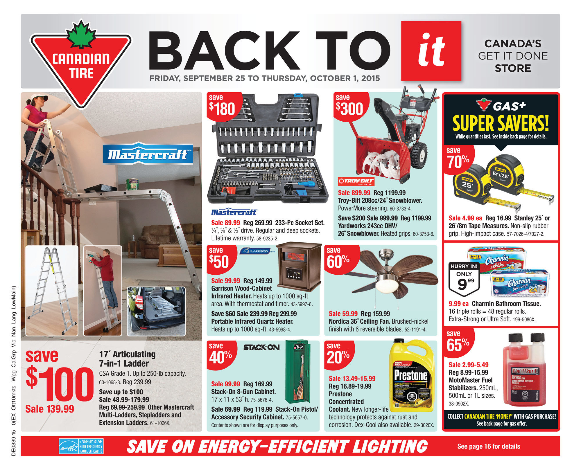 Canadian Tire Weekly Flyer - Weekly - Back To It - Sep 25 – Oct 1