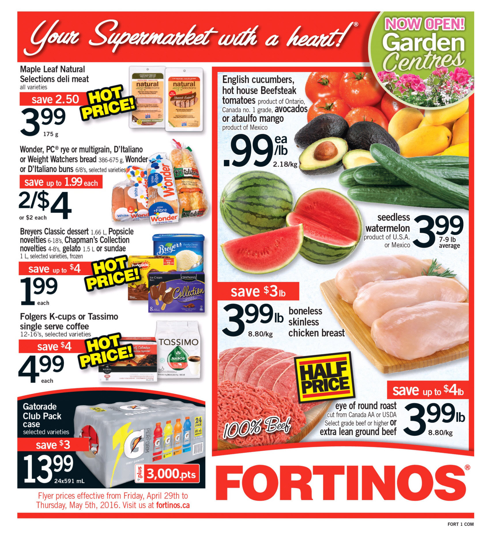 Fortinos Weekly Flyer Apr 29 May 5 Minute Maid Homestyle Orange 1l