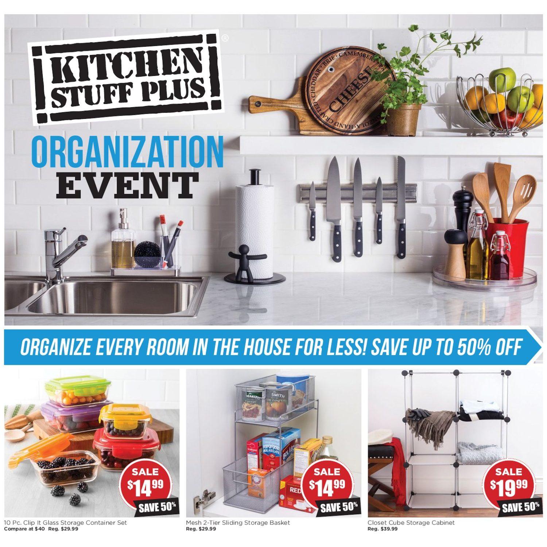 Kitchen Stuff Plus Weekly Flyer Organization Event Jan 19 Feb