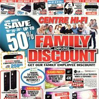 Centre HIFI - Weekly - Family Employee Discount! Flyer
