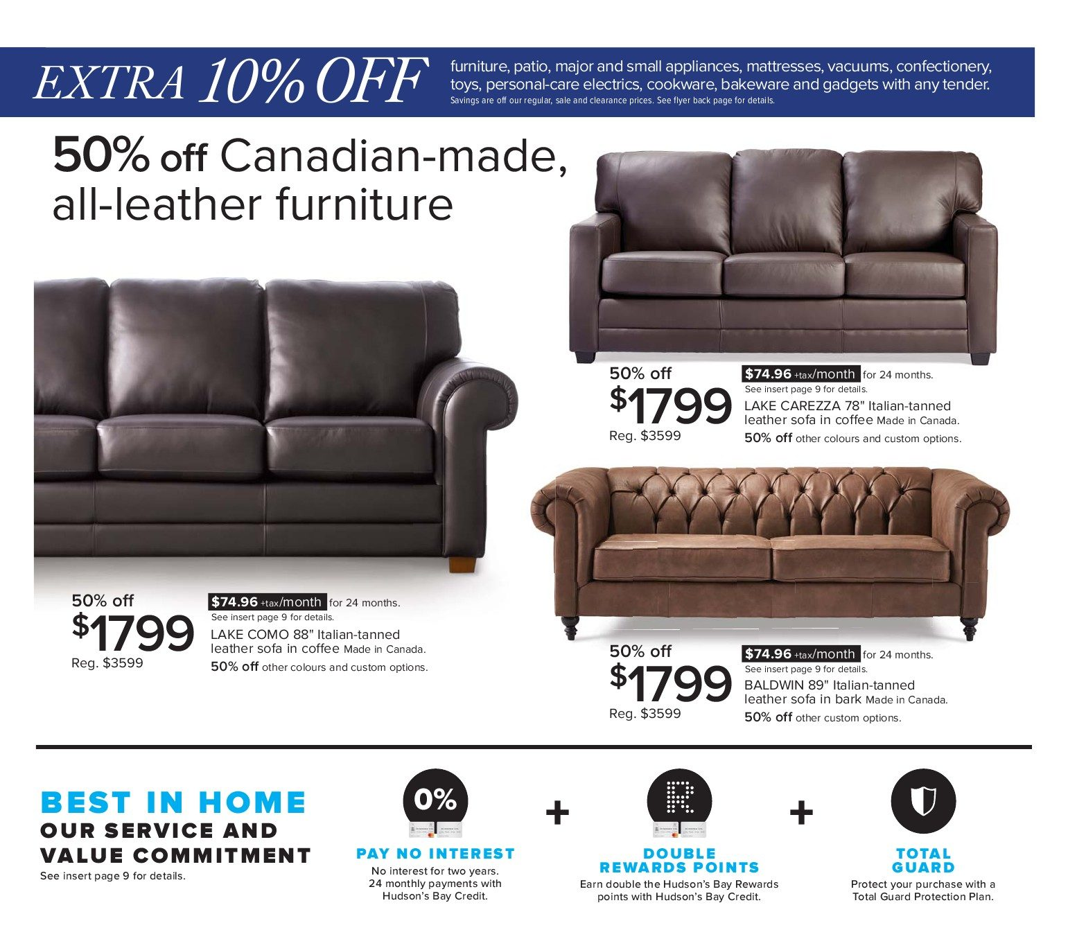 Made In Canada Leather Sofa