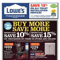 Lowe's - Weekly - Buy More, Save More Flyer