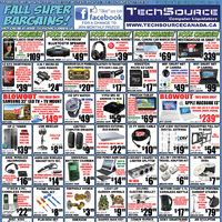 Tech Source - Fall Super Bargains! Flyer