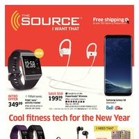 The Source - 2 Weeks of Savings - Cool Fitness Tech for The New Year Flyer