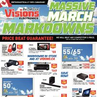 Visions Electronics - Ontario Only - Massive March Markdowns Flyer