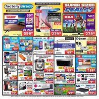 Factory Direct - Weekly - Super Sized Deals! Flyer