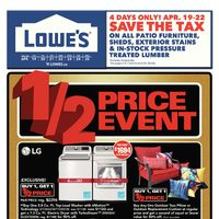 Lowe's - Weekly - 1/2 Price Event Flyer