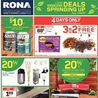 Rona - Weekly - Long Weekend Deals Flyer