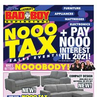 Bad Boy Furniture - Nooo Tax Sales Event Flyer