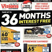 Visions Electronics - Weekly - 36 Months Interest Free Flyer