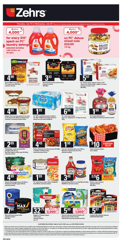 Zehrs Weekly Flyer Jul 19 25 Fancy Feast Classic Wet Fish Tuna 85g 24 Pcs Free Flashdisk