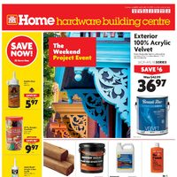 Home Hardware - Building Centre - The Weekend Project Event Flyer