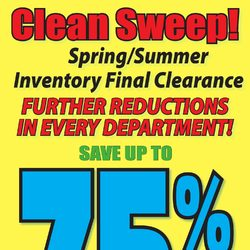 Fabricland - Clean Sweep! Flyer