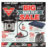 Canadian Tire - 8-Day Event - The Big Back To It Sale Flyer