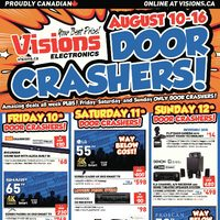 Visions Electronics - Ontario Only - Door Crashers Flyer