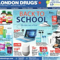 London Drugs - 6 Days of Savings - Back To School Flyer