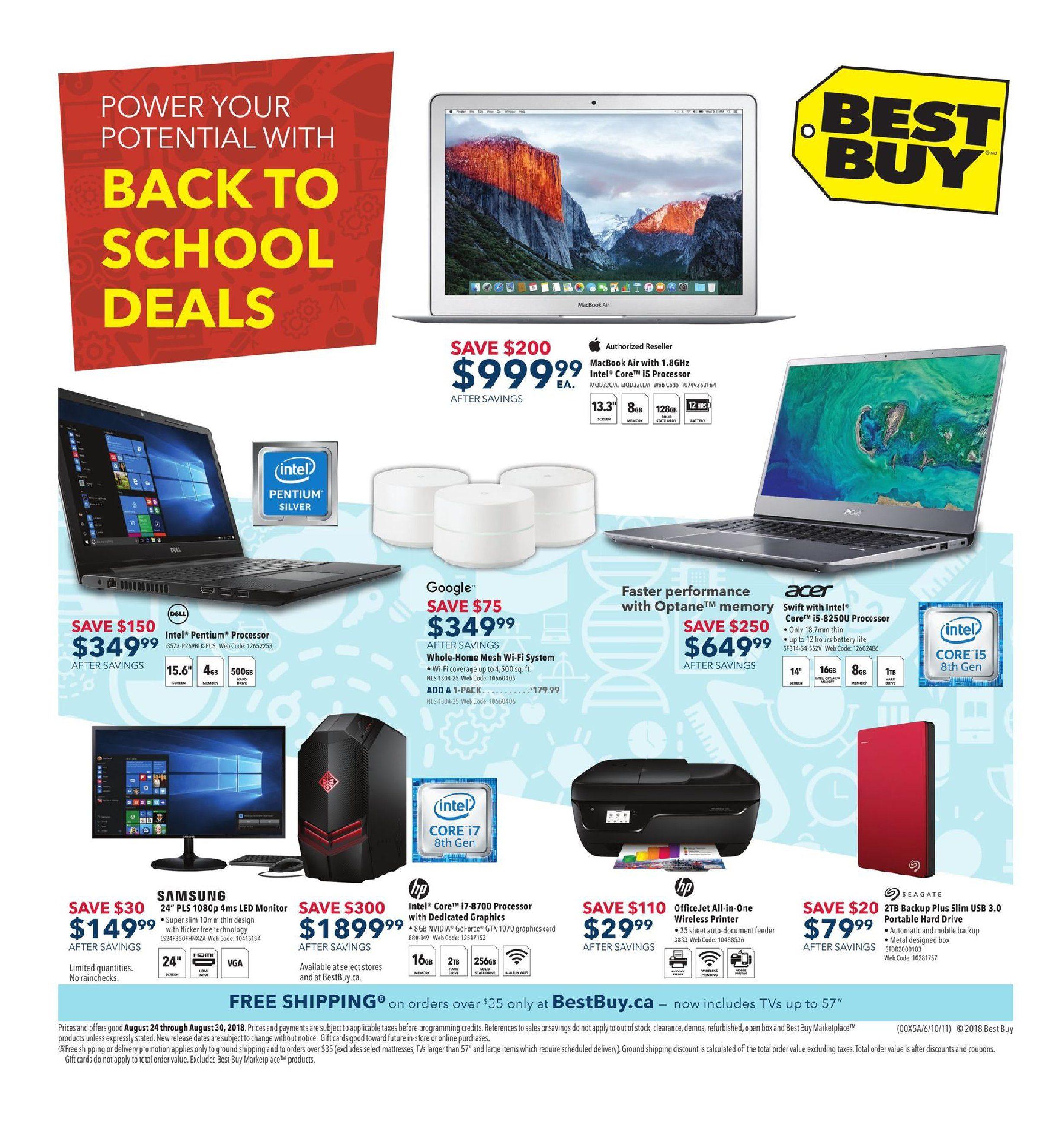 Best Buy Weekly Flyer - Weekly - Back To School Deals - Aug 24 – 30 ...