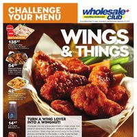 Wholesale Club - Challenge Your Menu - Wings & Things Flyer