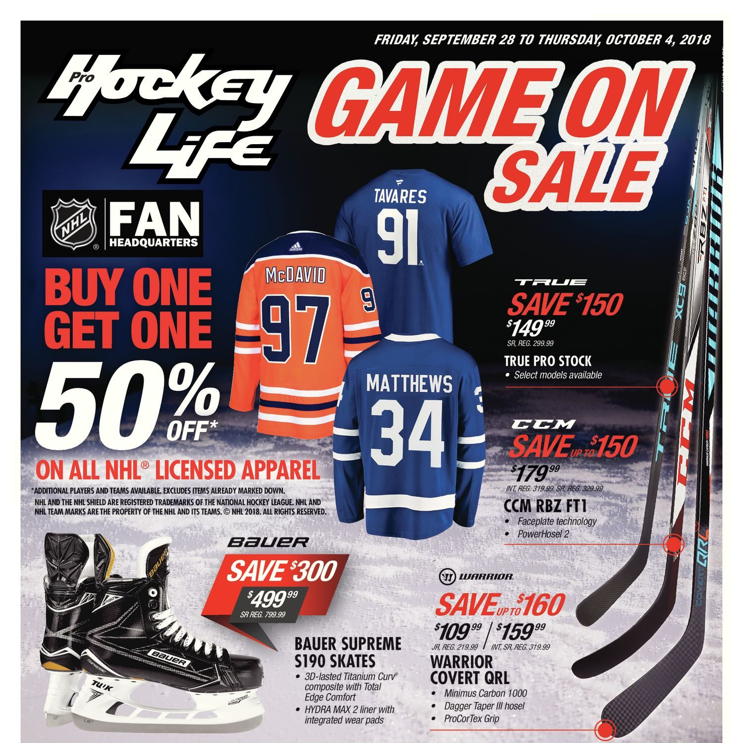 d49f07ba300 Pro Hockey Life Weekly Flyer - Game On Sale - Sep 28 – Oct 4 -  RedFlagDeals.com