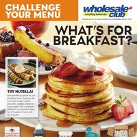 Wholesale Club - Challenge Your Menu - What's For Breakfast? Flyer