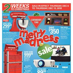 Canadian Tire - 2 Weeks to Christmas - Merry Madness Sale Flyer