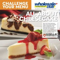 Wholesale Club - Challenge Your Menu - All About Cheesecake Flyer