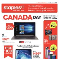 Staples - Weekly - Long Weekend Sale Flyer