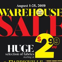 Fabricville - Warehouse Sale Flyer