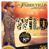 Fabricville - Club Elite Members Only - Wild Thing! Flyer