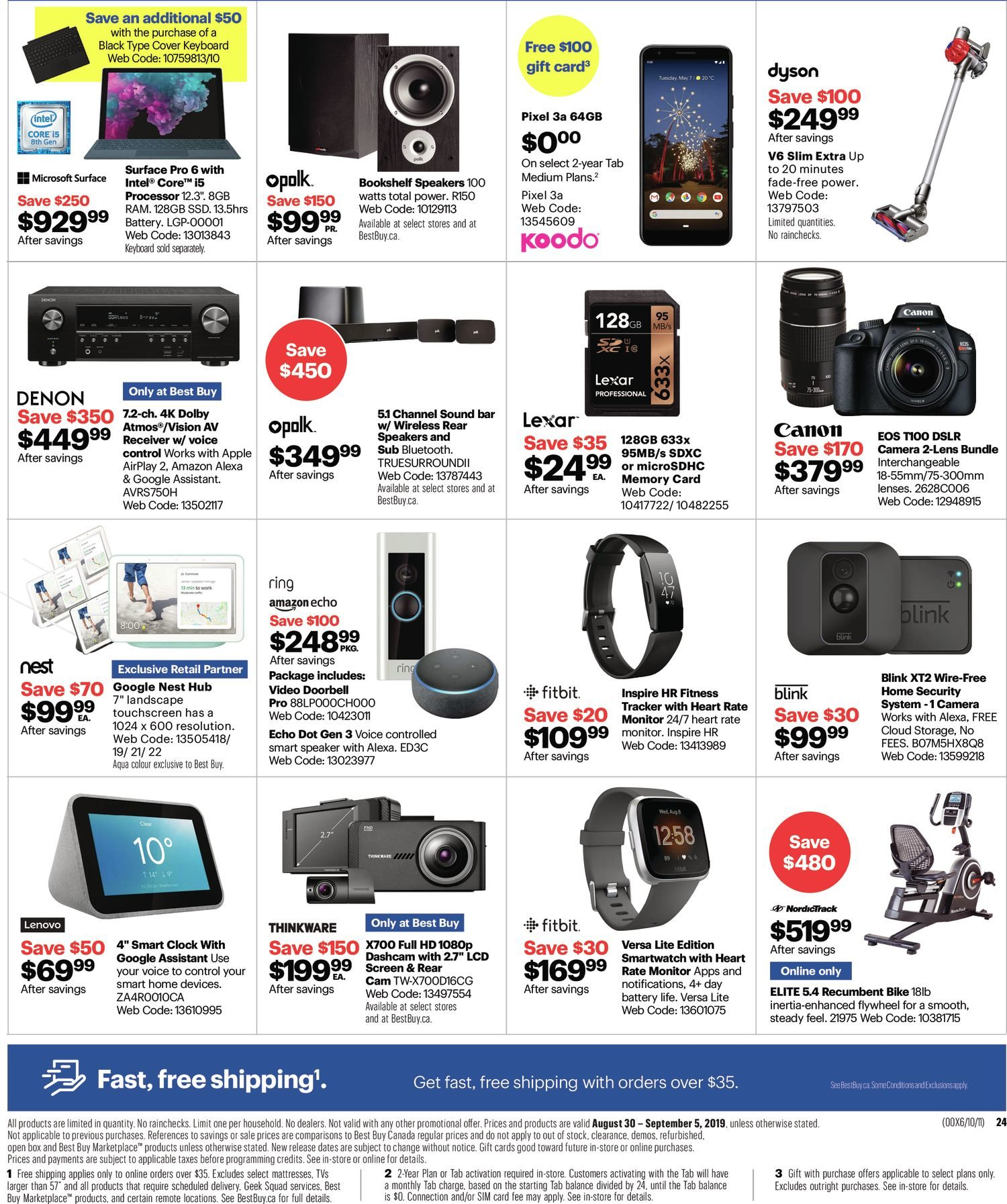 Best Buy Weekly Flyer - Weekly - Labour Day Sale - Aug 30