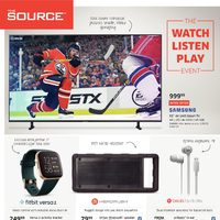 The Source - 2 Weeks of Savings - The Watch, Listen, Play Event Flyer