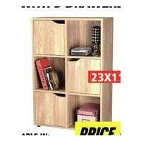 6 Cube Bookcase With 3 Drawers