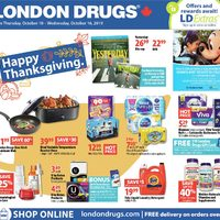 London Drugs - 6 Days of Saving - Happy Thanksgiving Flyer