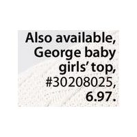 George Baby Girls' Top Cord Pants