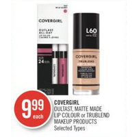 Covergirl Quiltast, Matte Made Lip Colour Or Trublend Makeup Products