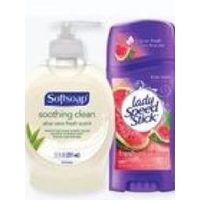 Softsoap Liquid Hand Soap Pump or Lady/mennen Speed Stick Premium or Gear Antiperspirant
