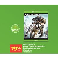 Tom Clancy's Ghost Recon Breakpoint For Playstation 4 Or Xbox One