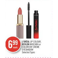 L'oreal Lip Colour, Revlon Mascara Or Colorstay Creme Eyeshadow