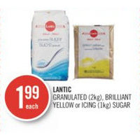 Lantic Granulated, Brilliant Yellow Or Icing Sugar