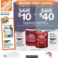 Home Depot - Weekly - Instant Paint Savings Flyer