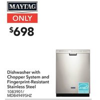 Maytag Dishwasher With Chopper System And Fingerprint-Resistant Stainless Steel