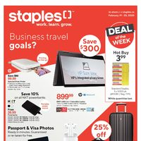 - Weekly - Business Travel Goals Flyer