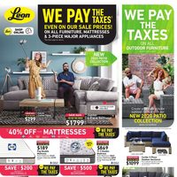 Leon's - We Pay The Taxes Flyer