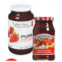 Smucker's, Pc Pure or Blue Menu Twice the Fruit Jam
