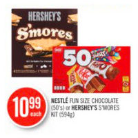 Nestle Fun Size Chocolate Or Hershey S'Mores Kit