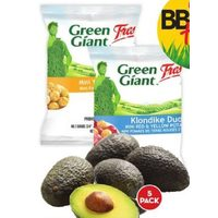 Green Giant Mini Potatoes or Avocados