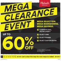 Michaels - Weekly - Mega Clearance Event Flyer