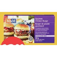 M&M Food Market Gourmet Chicken Burgers