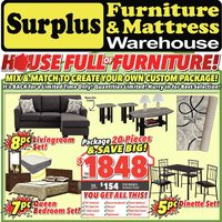 Surplus Furniture - House Full of Furniture! Flyer